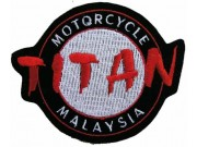 TITAN MOTORCYCLE BIKER EMBROIDERED PATCH #02