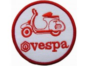 VESPA SCOOTER MOTORCYCLE EMBROIDERED PATCH #19