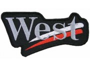 WEST RACING SPORT EMBROIDERED PATCH #01