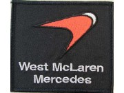 WEST MCLAREN MERCEDES RACING EMBROIDERED PATCH #07