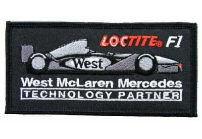 WEST MCLAREN MERCEDES RACING EMBROIDERED PATCH #10