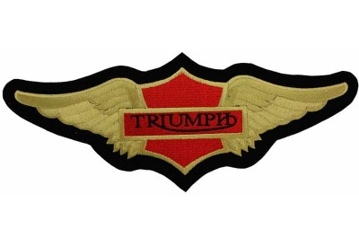 GIANT TRIUMPH BIKER WINGS EMBROIDERED PATCH (K1)