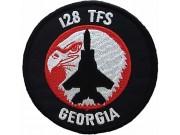USAF 128 TACTICAL FIGHTER SQ F15 GEORGIA PATCH