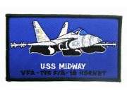 USAF MIDWAY VFA195- FA18 HORNET PATCH