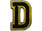 ALPHABET (D) IRON ON EMBROIDERED PATCH