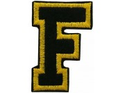 ALPHABET (F) IRON ON EMBROIDERED PATCH