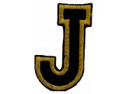 ALPHABET (J) IRON ON EMBROIDERED PATCH