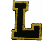 ALPHABET (L) IRON ON EMBROIDERED PATCH