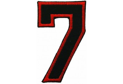 NUMBER 7(SEVEN) IRON ON EMBROIDERED PATCH
