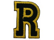 ALPHABET (R) IRON ON EMBROIDERED PATCH