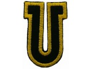 ALPHABET (U) IRON ON EMBROIDERED PATCH