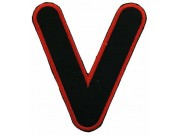 ALPHABET (V) IRON ON EMBROIDERED PATCH