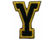 ALPHABET (Y) IRON ON EMBROIDERED PATCH