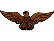 EAGLE BIKER IRON ON EMBROIDERED PATCH #04