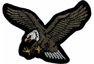 EAGLE BIKER IRON ON EMBROIDERED PATCH #05