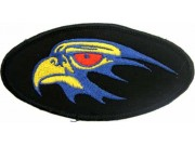 EAGLE BIKER IRON ON EMBROIDERED PATCH #10