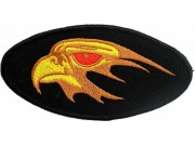 EAGLE BIKER IRON ON EMBROIDERED PATCH #12