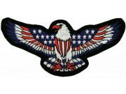 EAGLE BIKER IRON ON EMBROIDERED PATCH #14