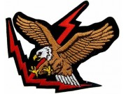 EAGLE BIKER IRON ON EMBROIDERED PATCH #16