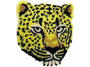 JAGUAR BIKER IRON ON EMBROIDERED PATCH #01