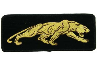 JAGUAR BIKER IRON ON EMBROIDERED PATCH #05