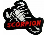 SCORPION BIKER BIKER IRON ON EMBROIDERED PATCH #01