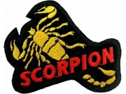 SCORPION BIKER BIKER IRON ON EMBROIDERED PATCH #03