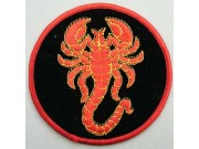 SCORPION BIKER BIKER IRON ON EMBROIDERED PATCH #11