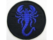 SCORPION BIKER BIKER IRON ON EMBROIDERED PATCH #13