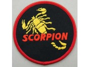 SCORPION BIKER BIKER IRON ON EMBROIDERED PATCH #14