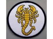 SCORPION BIKER BIKER IRON ON EMBROIDERED PATCH #17