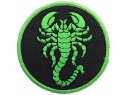 SCORPION BIKER BIKER IRON ON EMBROIDERED PATCH #20