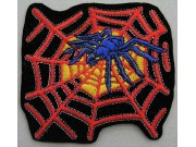 SPIDER BIKER BIKER IRON ON EMBROIDERED PATCH #03
