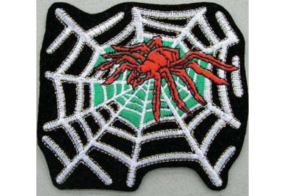 SPIDER BIKER BIKER IRON ON EMBROIDERED PATCH #04