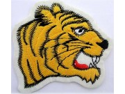 TIGER BIKER BIKER IRON ON EMBROIDERED PATCH #03