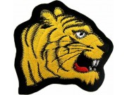 TIGER BIKER BIKER IRON ON EMBROIDERED PATCH #04