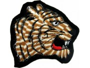 TIGER BIKER BIKER IRON ON EMBROIDERED PATCH #05