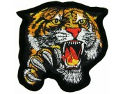 TIGER BIKER BIKER IRON ON EMBROIDERED PATCH #06