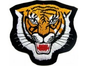 TIGER BIKER BIKER IRON ON EMBROIDERED PATCH #07