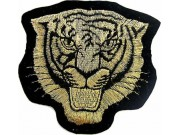 TIGER BIKER BIKER IRON ON EMBROIDERED PATCH #08