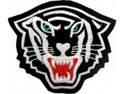 TIGER BIKER BIKER IRON ON EMBROIDERED PATCH #09