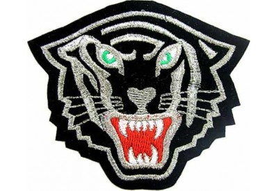 TIGER BIKER BIKER IRON ON EMBROIDERED PATCH #10