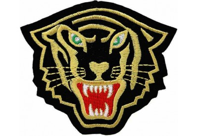 TIGER BIKER BIKER IRON ON EMBROIDERED PATCH #12
