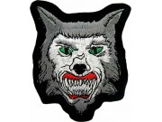 WOLF BIKER IRON ON EMBROIDERED PATCH #05