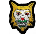 WOLF BIKER IRON ON EMBROIDERED PATCH #06