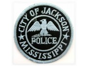 MISSISSPPI CITY OF JACKSON POLICE IRON ON EMBROIDERED PATCH