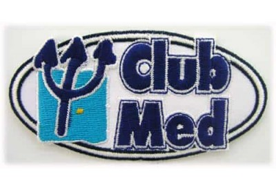 CLUB MED HOLIDAY IRON ON EMBROIDERED PATCH #02