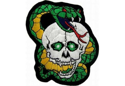 COBRA & SKULL PUNK / ROCK PATCH