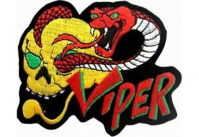 COBRA & SKULL (VIPER) PUNK / ROCK PATCH