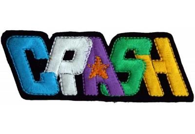 CRASH PUNK & ROCK EMBROIDERD PATCH #01
